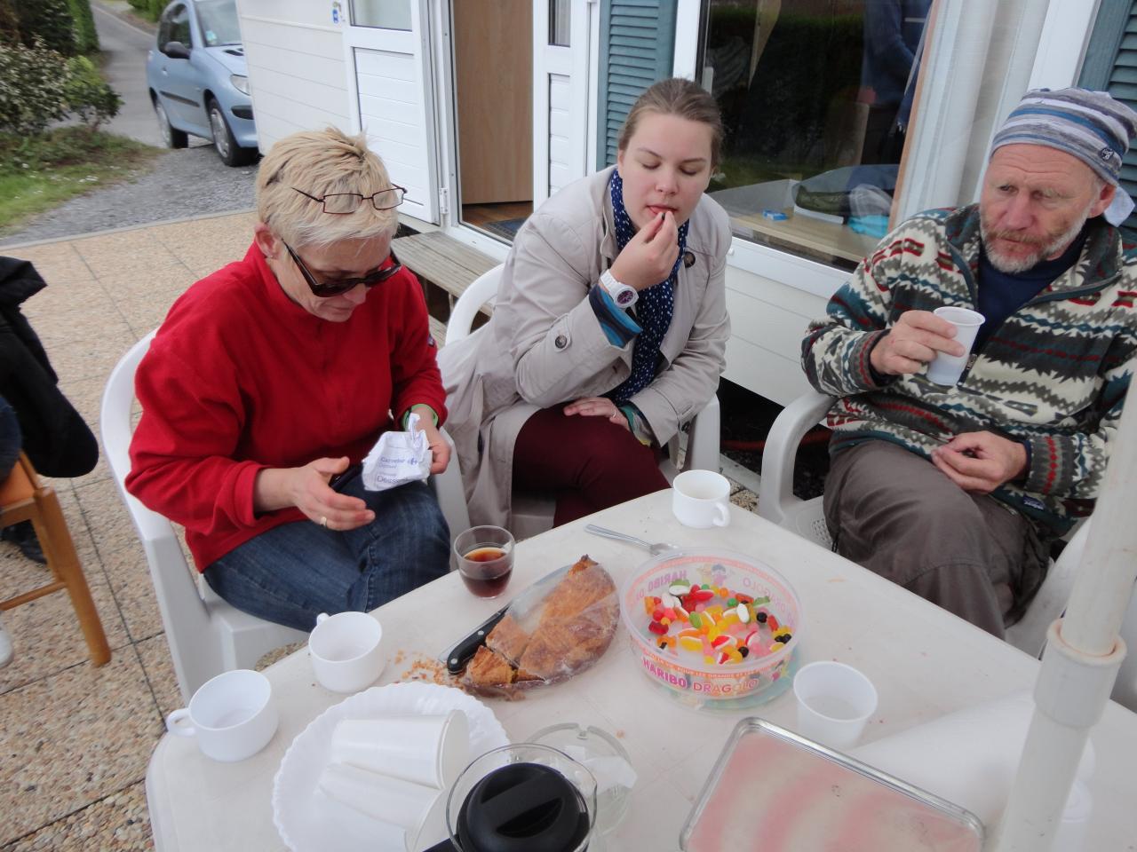 Le dessert gâteau breton et bonbons